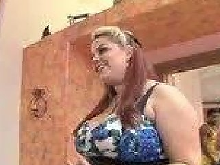 Chubby Lingerie Saleswoman Demonstrates The Goods Porn 8e